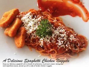 A Delicious Spaghetti Chicken Nuggets